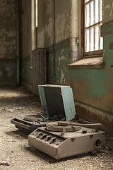 dj set. (stevenbley) Tags: abandoned decay urbex urbanexploration newyork ny hospital psychiatriccenter psychiatric canon5dmarkii rot rust peelingpaint guerillahistorian asylum graffiti urbandecay recordplayer records