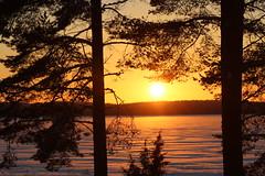 Jokiniemen matkailu talvimaisema_View from the cottage (3) (iisalmiregion) Tags: jokiniemenmatkailu maisema talvimaisema iltaaurinko sunset view snow auringonlasku järvimaisema
