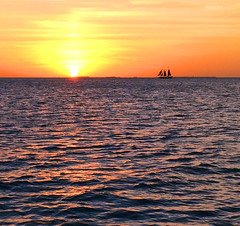 Day is Done (Len Radin) Tags: keywest sunset boat ocean water sun florida discoverybicycle tour