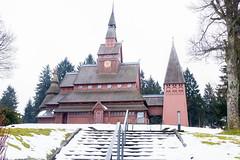 Gustav-Adolf-Stabkirche (Rainer ❏) Tags: gustavadolfstabkirche stabkirche stavkirke stavechurch hahnenklee goslar harz kirche architektur architekture borgund color x100f rainer❏