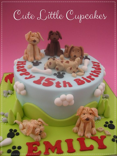 Surprising Dog Themed Birthday Cake A Photo On Flickriver Funny Birthday Cards Online Fluifree Goldxyz