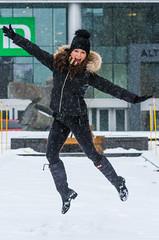Erika-23 (TheEvilDonut Photography) Tags: woman outdoors portrait winter gorgeous beautiful stunning snow urban montreal thin