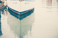 finding the calm (observed.by.diane) Tags: boat negativespace reflection calm water sea marina
