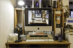 trova le differenze (FedericoPatti) Tags: scrivania casa arredo arredamento computer imac appel 2018 schermo monitor amplificatorerotel stilllife colori colors