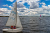 Let's Ride (Serhiy Borysov) Tags: canoneosm canon ukraine summer mykolaiv river boat yacht sail sky shore clouds
