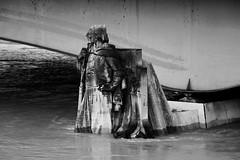 Stoïque, forcément, le Zouave du pont de l'Alma, Paris - 23 janvier 2018 (.urbanman.) Tags: paris pont alma pontdelalma zouave sculpture pierre crue 2018 noiretblanc blackandwhite