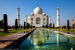 Agra - Taj Mahal (Robert GLOD (Bob)) Tags: tajmahal architecture art basin building cenotaph construction evening fountain handicraft mausoleum minaret taj tomb tower twilight unesco water uttarpradesh in ind india