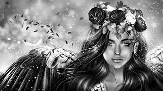 🌹 Women's Day 2018 🌹 # We're angels... B&W version