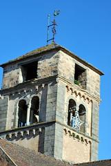 Clocher de l'église Saint-Loup de Bergesserin (71) (odile.cognard.guinot) Tags: clocher clunysois saôneetloire bourgogne bourgognefranchecomté bergesserin églisesaintloup artroman baiesgéminées 12esiècle 71