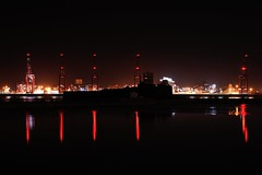 Liverpool Docks from New Brighton 7-3-2018 (D1021) Tags: night nightshot river estuary rivermersey merseyriver merseyestuary liverpool birkenhead newbrighton newbrightonstation nikond700 d700 marinalake