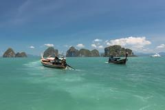 On an island hopping tour. (Gergely_Kiss) Tags: thaivacation thailandvacation isletsinthesea speedboattrip longboat tropicalparadise honglagoon hongisland andamansea thaibeaches krabi thailand