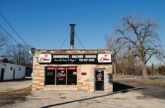 Eileen's Restaurant - Robbins, Illinois (Cragin Spring) Tags: building robbins robbinsil robbinsillinois illinois il midwest unitedstates usa unitedstatesofamerica chicagosuburb restaurant eileen's sign bbq barbeque sandwiches burgers