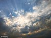 Infinity and Beyond (shamahzoha) Tags: sky clouds blue sun sunlight dying evening rays lines scattered golden silver silverlining lining nature beauty beautiful naturallights vibrant amazing 7dwf infinite endless