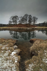River Brathay Reflections (RichRobson) Tags: photography robson rich skelwith lovethelakes nosunrisecolour peacefulmorning lakedistrict elterwater brathay lake district reflections river snow moody