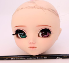 Makeup and sculpt commission on pullip (Nina's Doll *MAKEUP COMMISSION CLOSED*) Tags: pullip junplanning groove makeup faceup sculpt ooak full custo custom