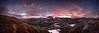 Minarets Sunset from Summit Lake - Sierra (Bruce Lemons) Tags: sierranevada mountains backpacking hike hiking wilderness landscape california anseladamswilderness lake summitlake clarklakes minarets sunset bannerpeak mtritter panorama