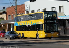 B-Line - Northern Beaches Fleet No ST 2850 on Route B1 City Wynyard) waits for the lights at Anzac Avenue, Collaroy (john cowper) Tags: buses bus bline northernbeaches northernbeachesbline statetransit transportfornsw doubledecker suburb sydney newsouthwales collaroy