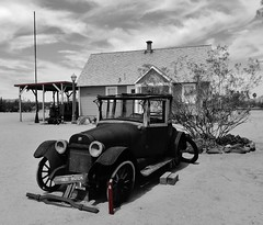 wouldn't you rather have a buick?   (HTT) (BillsExplorations) Tags: truck truckthursday olf old oldtruck buick vintage rust restored blackandwhite monochrome htt desert route66 display wouldntyouratherhaveabuick