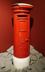 D17794.  War  Time Pillarbox. (Ron Fisher) Tags: pillarbox royalmail postofficemuseum mailbox postoffice london red sony sonyrx100iii sonyrx100m3 england gb greatbritain uk unitedkingdom europe europa