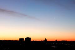 Sunrise and shadows (loganemalie) Tags: toulouse lavillerose sunrise sun landscape canon moon sky buildings architecture city photography france lights roadtrip trip travel explore
