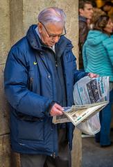 Market Man Reading Paper (Thanks for 1.4 million views) Tags: barcelona newspaper man market reading nikon d850 spain