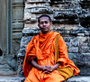Monk at Pre Rup temple. Angkor, Cambodia (ravalli1) Tags: siemreap cambodia temple religion monk people traditional southeastasia angkorwat portrait 2017 vacations