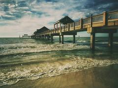 low tide...(HSS) (BillsExplorations) Tags: sliderssunday hss slide pier pier60 ocean tides lowtide gulf clearwaterbeach florida water sky clouds