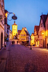 Rothenburg ob der Tauber. I normally only like to shoot natural landscapes but some cities are so picturesque it inspires a photo or two. (plottsdaniel) Tags: 2015 nikond7100 nikkor nikon longexposure night explore europe travel city cityscape deutschland germany bavaria rothenburgobdertauber rothenburg