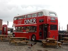 Liverpool (deltrems) Tags: liverpool merseyside bus public transport cafe restaurant diner food london routemaster albert dock albertdock