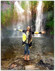 Happiness to its core (Satyajit Mazumder) Tags: liberty happiness freedom nature green waterfall travel india assam rainbow colour