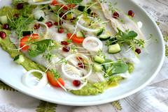 Ceviche di branzino (giulifff) Tags: cibo ceviche branzino food italianfood guacamole avocado melograno