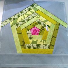 A #green #birdhouse (Fred-qpa) Tags: a green birdhouse quilting patchwork appliqué wicker furniture paradise outdoor