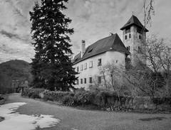 Schloss Oberranna (Tomsch) Tags: schloss castle oberranna wachau welterbesteig wanderung hiking loweraustria austria niederösterreich österreich welterbe worldheritage blackandwhite schwarzweiss bw sw nikon