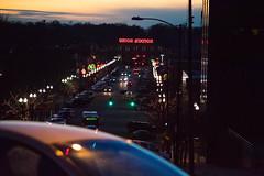 Union Station w Car (cpalka87) Tags: utah ogden unionstation union station nightlife dusk twilight city street