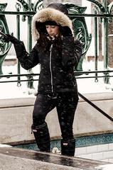 Erika-13 (TheEvilDonut Photography) Tags: woman outdoors portrait winter gorgeous beautiful stunning snow urban montreal thin