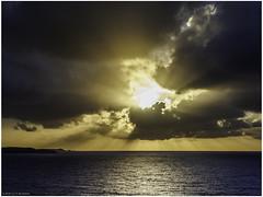Sun behind the clouds (Luc V. de Zeeuw) Tags: caribbean clouds sea sun southside stthomas usvirginislands