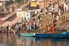 River Ganges, Varanasi (edina.cross) Tags: india asia river ganges varanasi boat people bathing pilgrims ghat