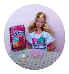 Breakfast with Barbie! (Peppermint Rose) Tags: barbie mattel daytonight repro superstar