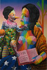 Urban Nation Madonna by Okuda (Marco Braun) Tags: black schwarz weiss white blanche noire walart streetart urbanart graffit berlin 2017 urbannation kopf head coloured colourful farbig bunt frau woman femme geometric geometrisch geométrique madonna jesus pieta mutter mother regenbogen rainbow arcenciel deutschlandgermanyallemangne