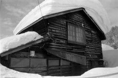 Collapsing house (threepinner) Tags: mikasa hokkaidou hokkaido horonai house winter snow rikenon ricoh xr8 28mm f28 era100 era 公元 幌内 三笠 北海道 北日本 日本