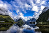 Sound of Milford (Kitonium) Tags: milford sound milfordsound reflection nz new zealand sky fluffy clouds fjord landscape nature outdoor sony a7m2 mountain travel travelgram travelling natgeotravel bbctravel lonelyplanet water