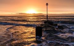 sunrise (Anthony White) Tags: christchurch england unitedkingdom gb sunrise waves crashingwaves beach