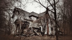 oh how the mighty have fallen... (BillsExplorations) Tags: abandoned forgotten abandonedhouse neglected ruraldecay decay scenic riverroad abandonedillinois ruins shuttered abandonedmansion