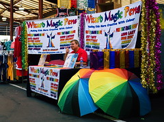 Thumbs up Wizard (RP Major) Tags: thumbs up wizard pen umbrella colour man store shop stall melbourne victoria market queen
