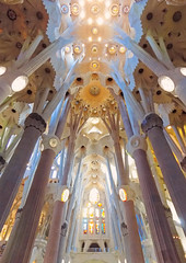 Sagrada Familia (saraconve) Tags: sagrada familia sagradafamilia barcelona barcellona spain spagna espana travel travelling viaggio viaggi architecture architettura abstracture abstract astratto pastel pastello color colors colours colour colorful colori colourful colore colores light lights luci luce luz luces españa catalunya cataluña symmetry simmetria composition symmetrical