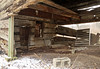 Interior, Park Log House (?) — Blendon Township, Franklin County, Ohio (Pythaglio) Tags: log dwelling residence historic house outbuilding barn vacant abandoned park westerville ohio blendontownship franklincounty singlepen 15story altered steeplenotching logs hewed hewn addition collapsing