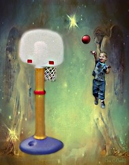 Angels Keeping Charge (Chris C. Crowley) Tags: angelskeepingcharge fraziercrowley child basketball hoop angels fantasy dreamlike joy happiness birthday sports angelic ball