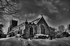 Snowbound sanctuary (Steve.T.) Tags: blackandwhite mono church stnicholaschurch snow weather snowy stnicholaswitham nikon d7200 architecture beastfromtheeast subzero building bnw essex witham holy cold freezing churchinsnow sanctuary