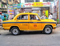 Taxi no 9211 (hasanzahid7139) Tags: tourindia india kolkata daires mobilephotography mobileshot cars colorsoflife yellow street road