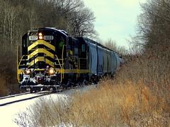 Indiana Northeastern eastbound mixed freight near Edon Ohio (Matt Ditton) Tags: indiana northeastern ohio